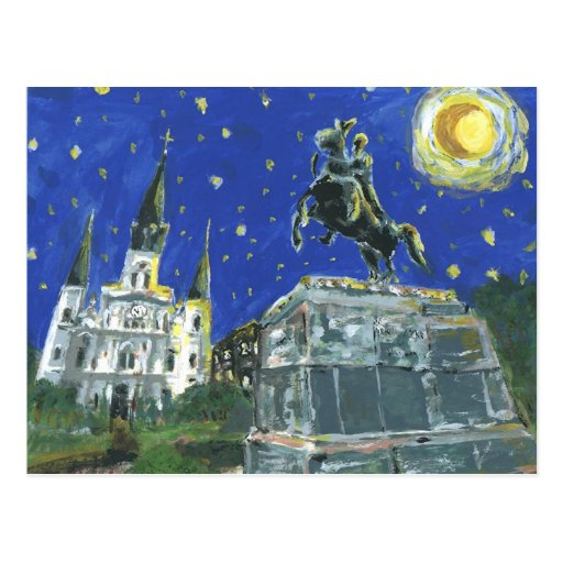Starry Night Jackson Square Postcards