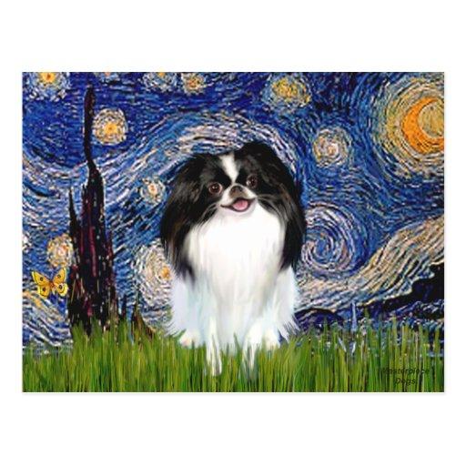Starry Night - Japanese Chin 3 Postcards