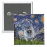 Starry Night - Keeshond (F) Pins