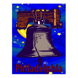 Starry Night Liberty Bell Postcard