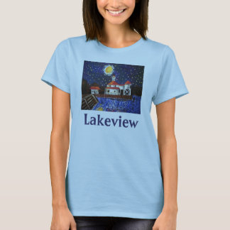 Starry Night Light House, Lakeview T-Shirt