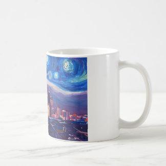 Starry Night Los Angeles California Coffee Mug