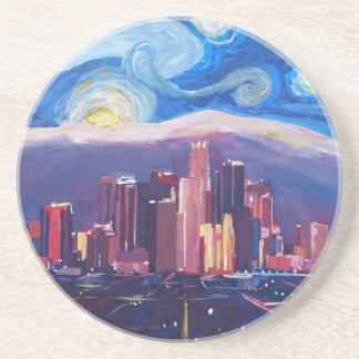 Starry Night Los Angeles California Drink Coaster
