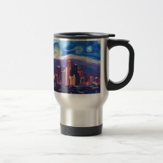 Starry Night Los Angeles California Travel Mug