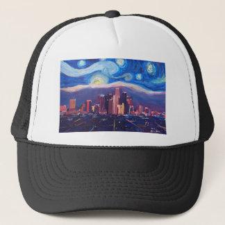 Starry Night Los Angeles California Trucker Hat