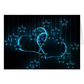 Starry Night Lovers Blue Black Card