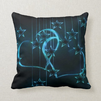 Starry Night Lovers Blue Black Throw Pillow