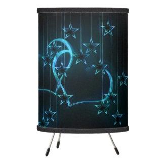 Starry Night Lovers Blue Black Tripod Lamp
