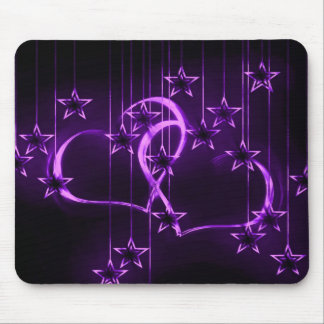 Starry Night Lovers Winterberry Mouse Pad