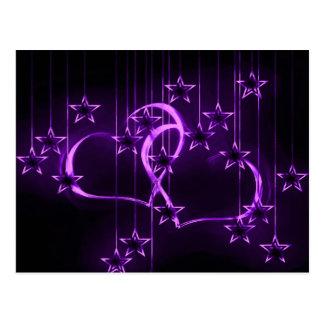 Starry Night Lovers Winterberry Postcard