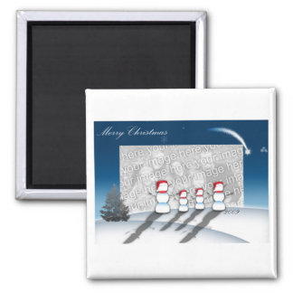 Starry Night Maget with Your Photo 2 Inch Square Magnet