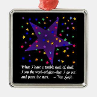Starry Night Metal Ornament