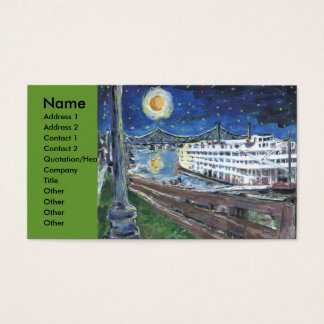 Starry Night Mississippi Queen, Business Card