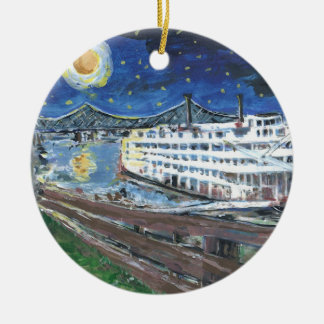 Starry Night Mississippi Queen Christmas Ornaments