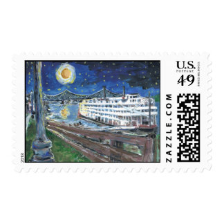 Starry Night Mississippi Queen Postage