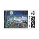 Starry Night Mississippi Queen Postage Stamp