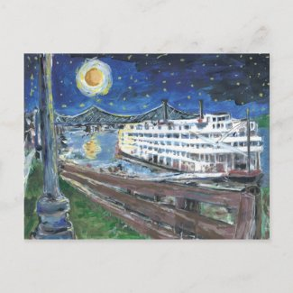 Starry Night Mississippi Queen Postcards