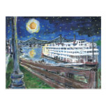 Starry Night Mississippi Queen Postcard at Zazzle