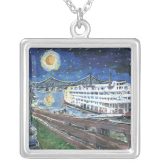 Starry Night Mississippi Queen Silver Plated Necklace