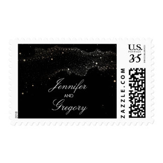 Starry Night Modern Wedding Postage