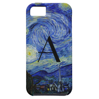 Starry night monogram iPhone 5 case