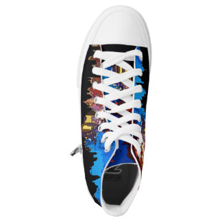 Starry Night New York Abstract Blue High-Top Sneakers