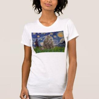 Starry Night - Norwegian Forest Cat Tee Shirt