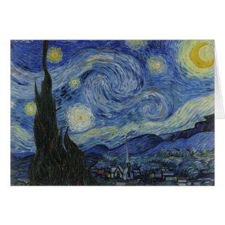 starry night of van gogh greeting cards