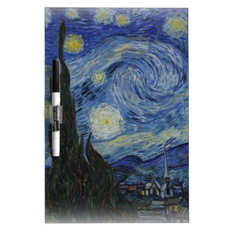 starry night of van gogh Dry-Erase whiteboard