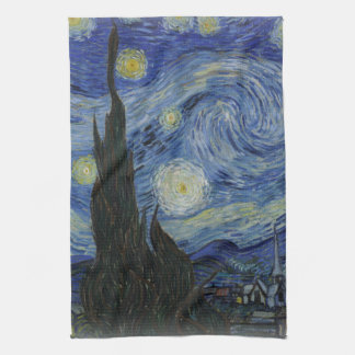 starry night of van gogh hand towel