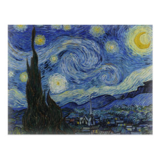 starry night of van gogh post cards