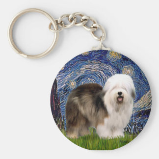 Starry Night - Old English 12 Keychain