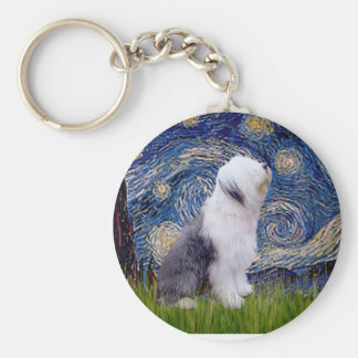 Starry Night - Old English 1 Keychain