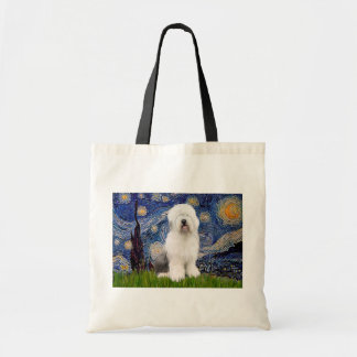 Starry Night - Old English #3 Budget Tote Bag