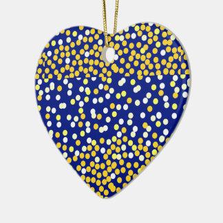 Starry Night on blue XMAS25 Ceramic Ornament