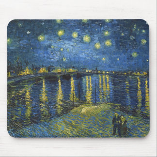Starry Night on the Rhone by Vincent van Gogh Mouse Pad