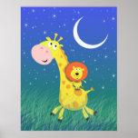 Starry Night on the Savannah Kid's Art Print