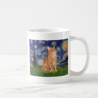 Starry Night - Orange Tabby 46 Coffee Mug