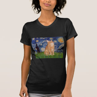 Starry Night - Orange Tabby 46 Tshirts