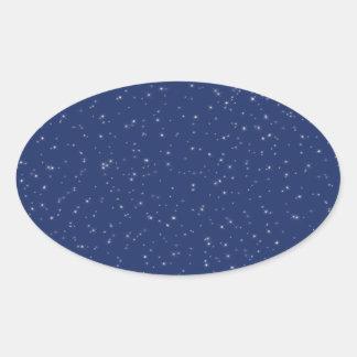 Starry Night Oval Sticker