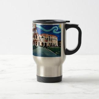 Starry Night over Colloseum in Rome Italy Travel Mug