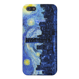 Starry Night Over New York City Case For iPhone SE/5/5s