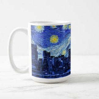 Starry Night Over New York City Coffee Mug