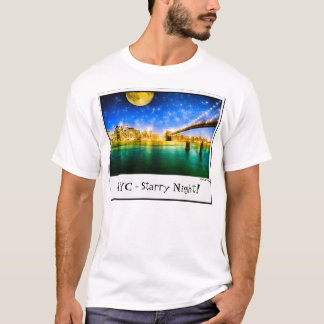 Starry Night Over New York City T-Shirt