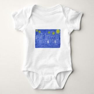 Starry Night Over New York...Who Is John Galt? Baby Bodysuit