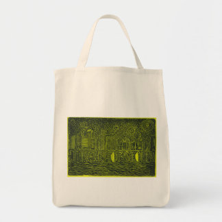 Starry Night Over New York...Who Is John Galt? Canvas Bags