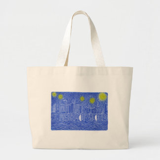 Starry Night Over New York...Who Is John Galt? Tote Bag