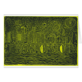 Starry Night Over New York...Who Is John Galt? Card