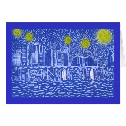 Starry Night Over New York...Who Is John Galt? Cards
