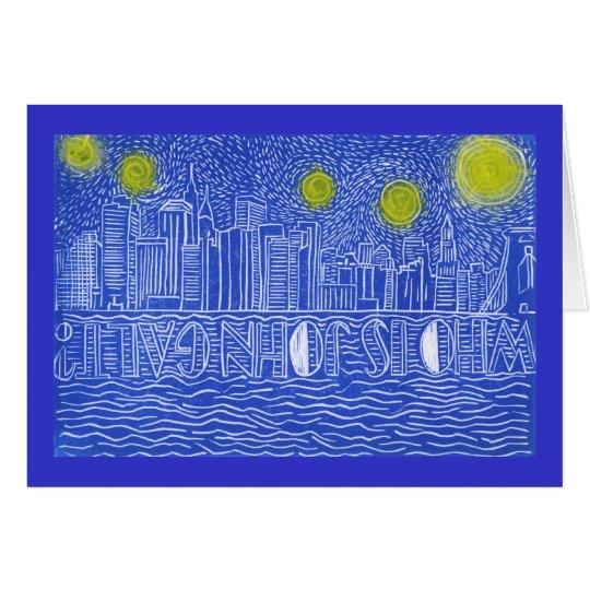 Starry Night Over New York...Who Is John Galt? Card